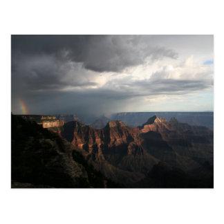 Cartão Postal Arco-íris norte da borda do Grand Canyon