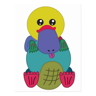 Cartão Postal Arco-íris Platypus