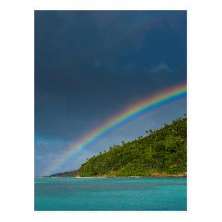 Cartão Postal Arco-íris sobre a ilha, Samoa Americanas