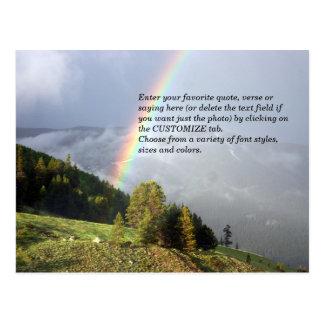 Cartão Postal Arco-íris sobre o cume de Colorado com seu texto