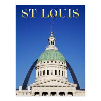 Cartão Postal Arco velho do tribunal e da entrada, St Louis