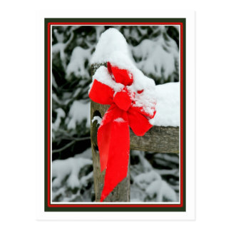 Cartão Postal Arco vermelho nevado