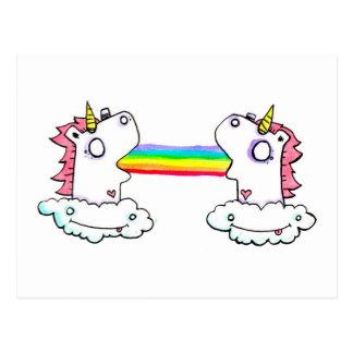 Cartão Postal Arcos-íris distante por IEM Boz