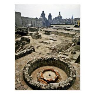 Cartão Postal Área cerimonial do Mayor de Templo, Cidade do