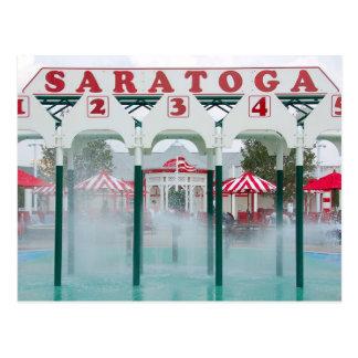 Cartão Postal Área de jogo da piscina de Saratoga Springs