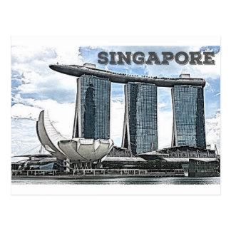 Cartão Postal Areias da baía do porto - Singapore