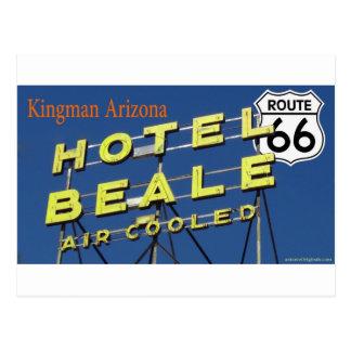Cartão Postal Arizona 2 de Kingman da rota 66 de Beale do hotel