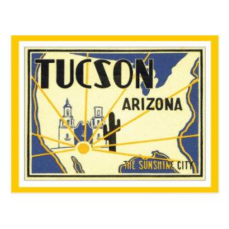 Cartão Postal Arizona de Tucson do vintage