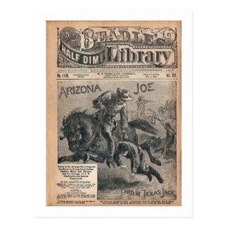Cartão Postal Arizona Joe - biblioteca da moeda de dez centavos