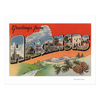 Cartão Postal Arkansas (cena) da paisagem - grande letra