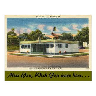 Cartão Postal Arkansas, cinema ao ar livre da grade de Ritz