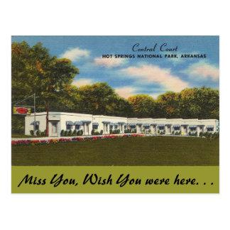 Cartão Postal Arkansas, corte central