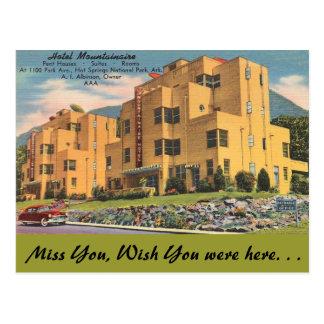 Cartão Postal Arkansas, hotel Mountainaire