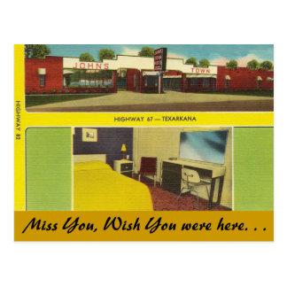 Cartão Postal Arkansas, motel da cidade de John