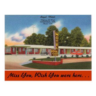 Cartão Postal Arkansas, motel real