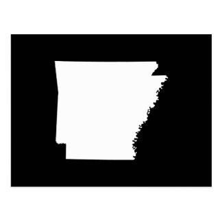 Cartão Postal Arkansas no branco
