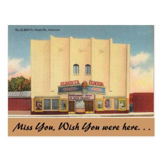 Cartão Postal Arkansas, o teatro de Elberta