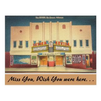Cartão Postal Arkansas, o teatro de Sevier