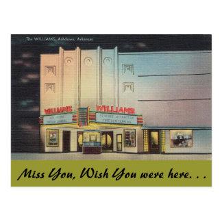 Cartão Postal Arkansas, o teatro de Williams