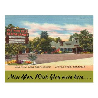 Cartão Postal Arkansas, rei velho Cole Restaurante