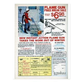 Cartão Postal Arma de chama para o inverno