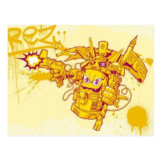 Cartão Postal Arma de pulverizador de Graffit