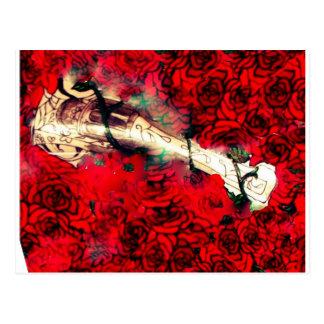 Cartão Postal Armas e rosas