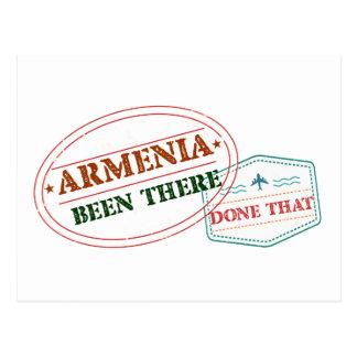 Cartão Postal Arménia feito lá isso