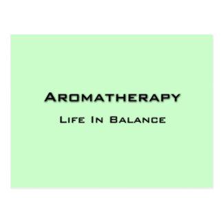Cartão Postal Aromaterapia - texto preto
