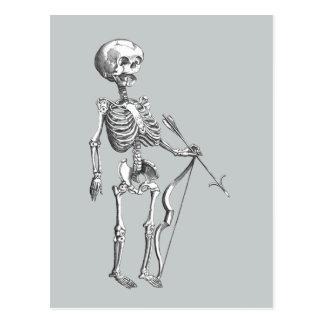 Cartão Postal Arqueiro do esqueleto do vintage