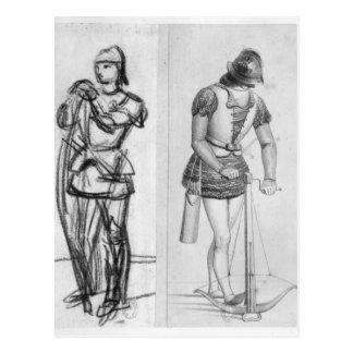 Cartão Postal Arqueiro e crossbowman