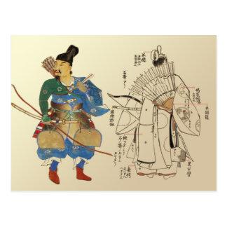 Cartão Postal Arqueiros do guerreiro com as peças do uniforme