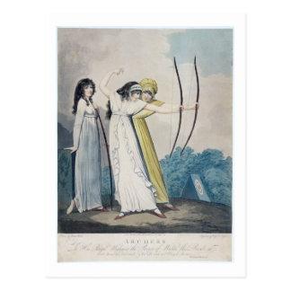 Cartão Postal Arqueiros, gravados por J.H. Wright (fl.1795-1838)