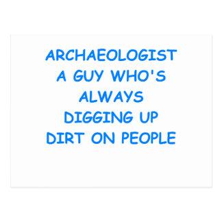 Cartão Postal arqueólogo