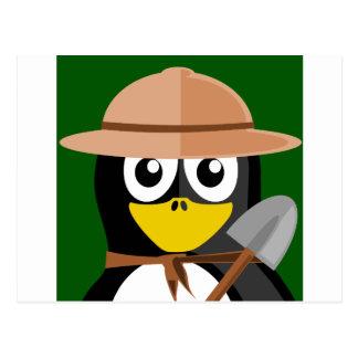 Cartão Postal Arqueólogo do pinguim
