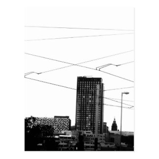 Cartão Postal Arquitectura da cidade abstrata impressionante no