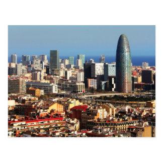 Cartão Postal Arquitectura da cidade de Barcelona