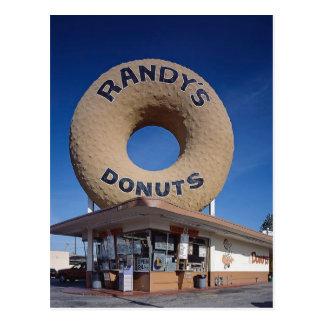 Cartão Postal Arquitetura de Califórnia das rosquinhas de Randy