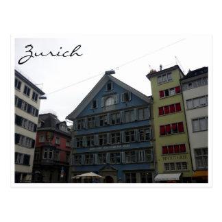 Cartão Postal arquitetura de Zurique