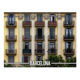Cartão Postal Arquitetura dos apartamentos de Barcelona, espanha
