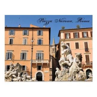 Cartão Postal Arquitetura italiana na praça Navona, Roma, Italia