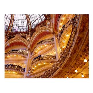 Cartão Postal Arquitetura luxuoso, Paris France, ouro