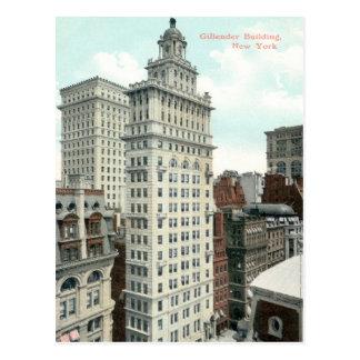 Cartão Postal Arranha-céus de Gillender, vintage da Nova Iorque
