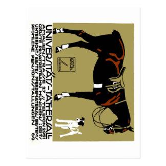 Cartão Postal Arte 1912 do poster da equitação de Ludwig