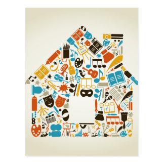 Cartão Postal Arte a casa