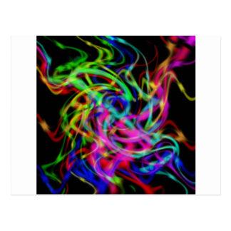Cartão Postal arte abstracta colorida