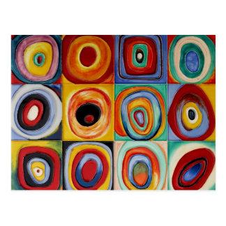 Cartão Postal Arte abstracta de Kandinsky