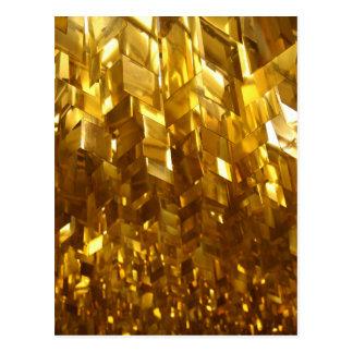 Cartão Postal Arte abstracta do teto do ouro