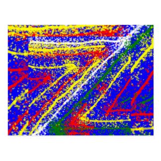 Cartão Postal arte abstracta do zzz ZAZZLING: Raias dos azuis