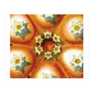 Cartão Postal arte alaranjada do núcleo